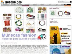 Los brazaletes de Barbarella en la web Notodo.com (julio 2012)  http://www.barbarella.es/tiendabarbarella/