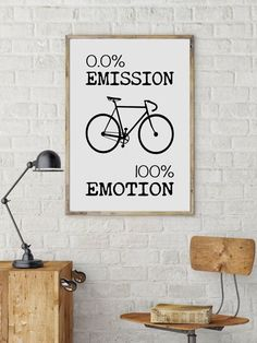 Motivational poster, Printable Quote, Art Digital Print, Bicycle poster, Bike print, cycling poster, Cycling Gift #cyclingquotes