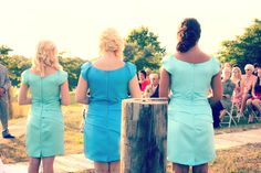 Disney maidens bridesmaids dress!  Beautiful in different shades of blue (: