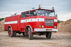 Škoda 706 RTHP Fire Engine, Fire Department, Heavy Equipment, Eastern Europe, Fire Trucks, Czech Republic, Buses, Cars And Motorcycles, Techno