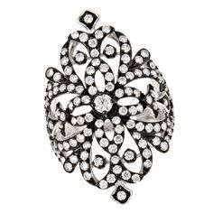 After my Prince comes, he can buy me jewelry like this!  Effy's Deco Diamond ring in 14K white gold, 1.89 Tcw.