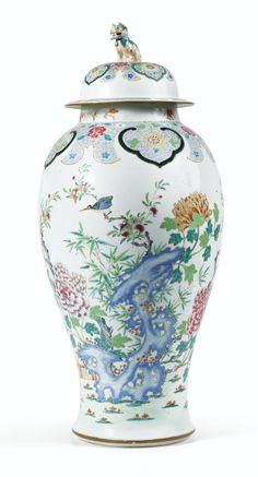 FAMILLE ROSE PORCELAIN VASE, CHINA, QING DYNASTY, QIANLONG PERIOD