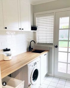 Design & Build Your Dream New Kitchen With Kaboodle Australia Laundry Decor, Laundry Room Organization, Laundry Room Design, Laundry In Bathroom, Laundry Cart, Laundry Cabinets, Basement Laundry, Laundry Closet, Kitchen Cabinetry