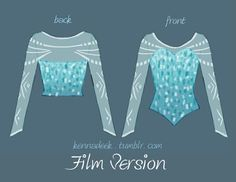 Elsa bodice and sleeve concept art (detail).