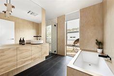 Bath room design australia beach houses 19 Ideas for 2019 Grand Designs Australia, Reece Bathroom, In Law House, Beach House Lighting, Beach Bathrooms, Room Tiles, Will Turner, Celebrity Houses, Bathroom Interior Design