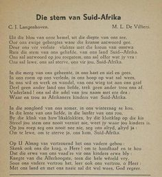 Die Stem van Suid Afrika - Old South African National Anthom.