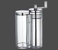 Zassenhaus Serie Singen Kurbel-Muskatmühle mit Reibscheibe und Vorratsbehälter 14,5 cm
