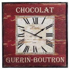 Found it at Wayfair Australia - Square Chocolate Clock in Red Frame Temple, Clock, Chocolate, Interior Design, Frame, Australia, Red, Decor Ideas, Pretty