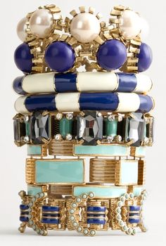 A plethora of fantastic bracelets to choose from. Each uniquely detailed and elegant. I want them all!
