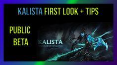 http://brianwinfrey.blogspot.com/   League of Legends PBE New champion Kalista first look gameplay + tips video (public beta environment) #leagueoflegends #kalista #PBE