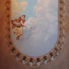 Baroque Ceiling Mural - I like the idea of looking over the railing