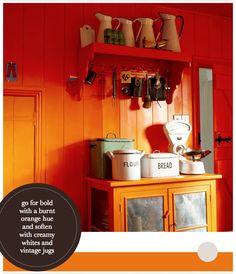 Orange little kitchen