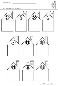 Home Themes, Montessori Math, Grande Section, Ten Frames, Math Worksheets, Coloring Pages, Kindergarten, Preschool, Early Education