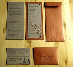 Italian Fall Letterpress Wedding Invitation