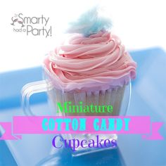 Sweet summer mini #treats - mini cotton candy #cupcakes #recipe!