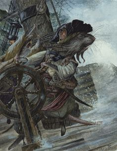 'Captain Ratbeard' by Chris Dunn Illustration. A rat pirate captain takes the ship's wheel in a sea storm. Chris Dunn, Design Steampunk, The Pirates, Art Base, Children's Book Illustration, Book Illustrations, Graphic, Rats, Illustrators