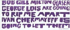 Tony Palladino, envelope, 1986