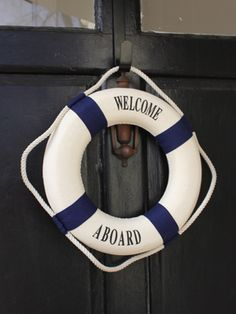 Ahoy Baby Shower / nautical party welcome life preserver