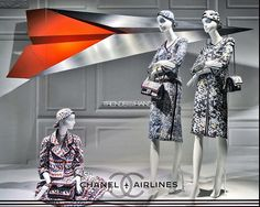 """SAKS FIFTH AVENUE,New York, """"This is the final boarding call for passengers Mandy,Stacey and Petra booked on flight 326 on Chanel Airlines to Milan. Please proceed to Gate 3 immediately"""", pinned by Ton van der Veer"""