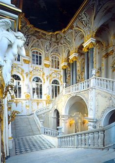 The Hermitage houses Catherine the Great's art collection. St. Petersburg, Russia.