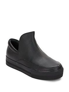 Ash Jack Leather Slip-On Sneakers - Black - Size 35 (5)