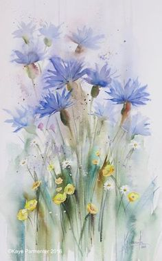 Cornflowers and buttercups_ws