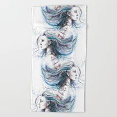 #woman #sea #aquatic #beachtowel #towel #bath #art #summer #ocean