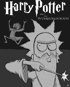 Rick and Morty x Harry Potter Rick And Morty Image, Rick Und Morty, Cartoon Crossovers, Cartoon Movies, Rick And Morty Crossover, Rick And Morty Stickers, Rick And Morty Characters, Harry Potter Cartoon, Rick And Morty Poster