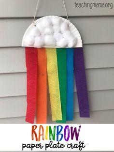 Paper plate rainbow craft. 10 fun kids rainbow crafts.