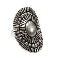 Handmade Sterling Silver Solar Ethnic ornate Ring Tribal