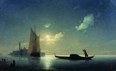 Иван Константинович Айвазовский: Гондольер на море ночью 1843