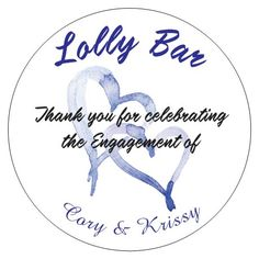 Our Lolly Bar Stickers Bar, Engagement, Stickers, Personalized Items, Engagements, Decals