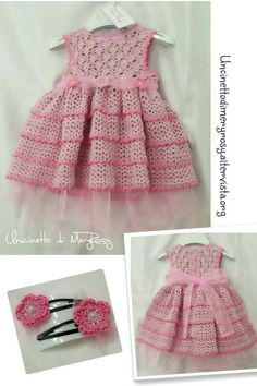 Dress Girls crocheted