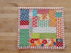 crazy mom quilts: mini mat