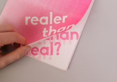 "Check out this @Behance project: ""ISTD – Realer Than Real?"" https://www.behance.net/gallery/36739961/ISTD-Realer-Than-Real"