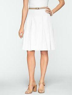 Talbots - Pleated Sateen Skirt | Skirts | Misses