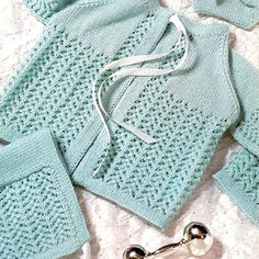INSTANT DOWNLOAD PDF knitting Pattern for a Matinee Set  Sweet, classic baby matinee set - cardigan or jacket,booties and a bonnet in a pretty