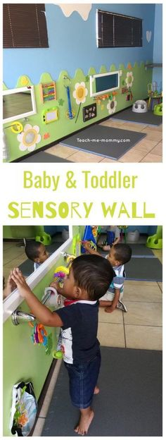 Sensory Wall for Baby & Toddler Sensory wall. To fo The post Sensory Wall for Baby & Toddler appeared first on Toddlers Ideas. Sensory Wall, Sensory Rooms, Sensory Activities, Infant Activities, Sensory Boards, Baby Room Activities, Sensory Tubs, Infant Toddler Classroom, Toddler Rooms