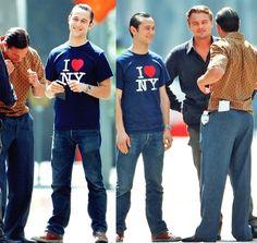 Joseph Gordon-Levitt, Tom Hardy, Leonardo DiCaprio - Inception, Behind the scenes