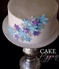 frozen snowflake cake - Google Search