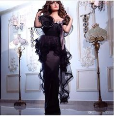 Online Shopping 2015 New Black Evening Dresses Long Prom Dress Party Dress with Peplum Ruffle Short Sleeves Floor Length Saudi Arabic Style Special Occasion 149.74 | m.dhgate.com