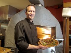 Oliver Zulauf, corporate executive chef for Rocky Mountain Flatbread Co., uses local organic ingredients to keep a low carbon footprint.
