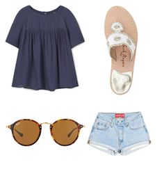 """""""Summer Time"""" by anne-reeves123 on Polyvore featuring MANGO, Jack Rogers and Ray-Ban"""