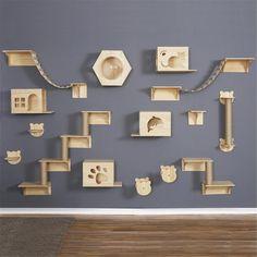 Cat Climbing Shelves, Cat Climbing Wall, Cat Wall Shelves, Cat Wall Furniture, Cat Stairs, Wood Stairs, Cat Climber, Cat Tree House, Cat Supplies