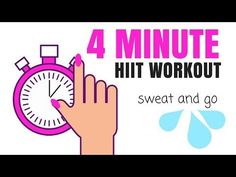(32) 4 MINUTE HIIT HOME WORKOUT -BURN CALORIES FAST AT HOME -no equipment needed & suitable for beginners - YouTube