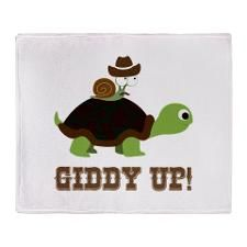 Giddy up! Throw Blanket