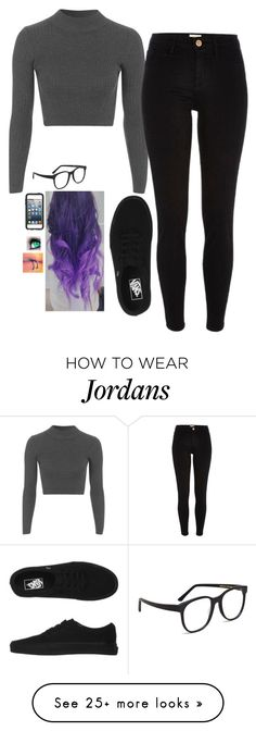 """Untitled #807"" by erika-demass on Polyvore featuring Topshop, River Island, Vans, Larke and OtterBox"