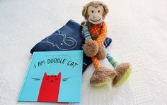 Easter is not too far away why not give your little one a cute snuggle time for baby toddler boys babu blanket cheeky monkey doodle cat negle Gallery