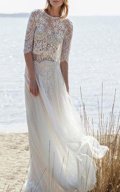 Costarellos Bridal Look 22 on Moda Operandi