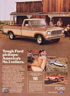 Awesome Ford 2017: 1979 Ford F-100 Pickup Truck Classic Vintage Print Ad  Cool stuff motoized